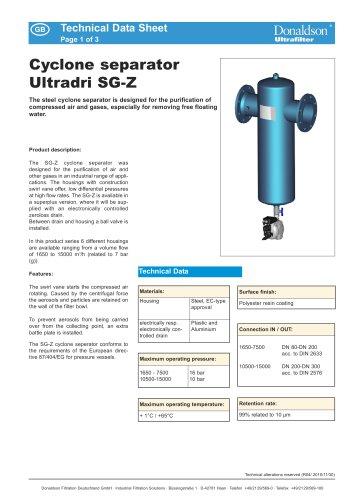 Cyclone separator Ultradri SG-Z