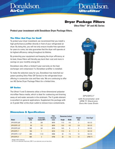 Dryer Package Filters