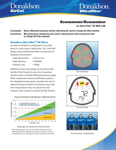 Econometer/Economizer for Ultra-Filter DF 0035 - 1100