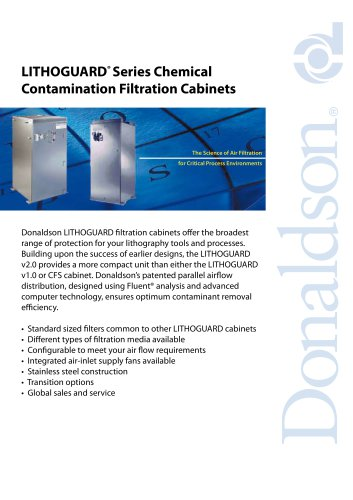 LITHOGUARD ®  Series Chemical Contamination Filtration Cabinets