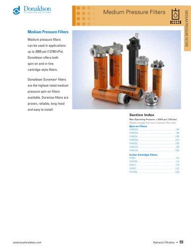 Medium Pressure Filters