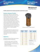 Ultraporex B Particle Filter Element