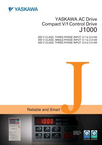 YASKAWA AC Drive Compact V/f Control Drive J1000