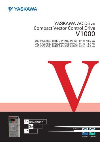 YASKAWA AC Drive Compact Vector Control Drive V1000