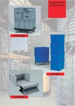 Plastic transport and storage bins