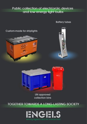 Public collection of electionic devices and low energy light bulbs