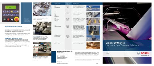 Linium® 300 Series Horizontal Flow Wrapping Solutions