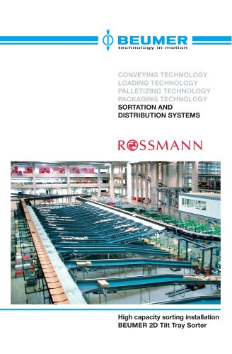 BEUMER 2D Tilt Tray Sorter at Rossmann Central Warehouse