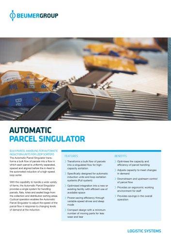 BEUMER Automatic Parcel Singulator