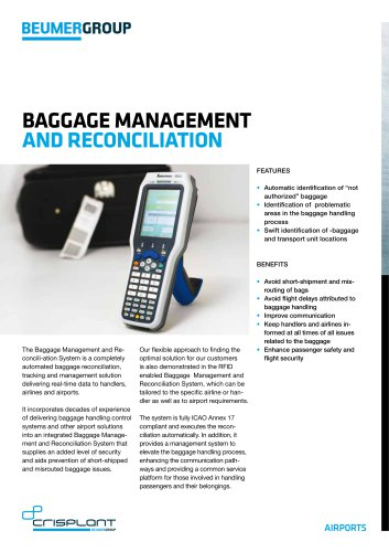 BEUMER Baggage Management and Reconiliation