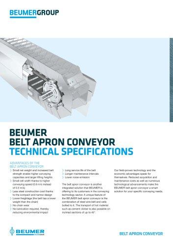 BEUMER Belt Apron Conveyor