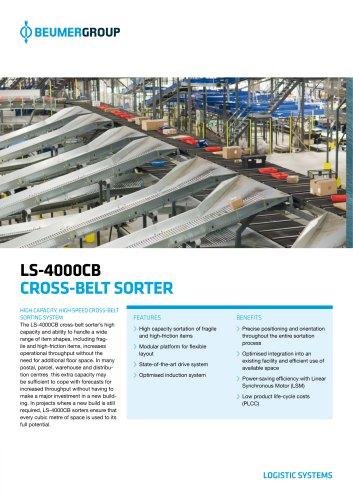 BEUMER LS-4000CB Cross-Belt Sorter