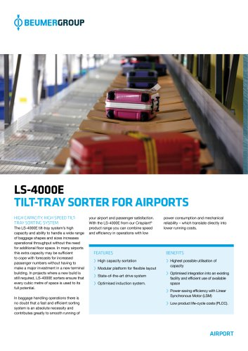 BEUMER LS-4000E for Airports