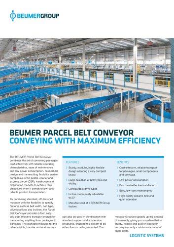 BEUMER Parcel Belt Conveyor
