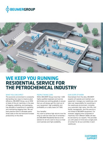 BEUMER Residential Service for the Petrochemical Industry