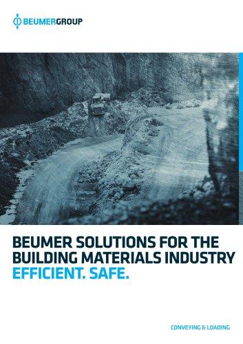 BEUMER Solutions for the Building Materials Industry