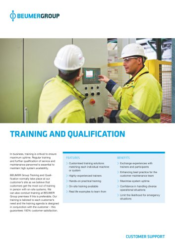 BEUMER Training and Qualification