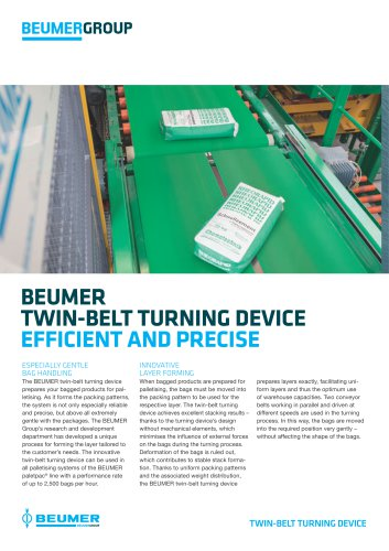 BEUMER Twin-Belt Turning Device