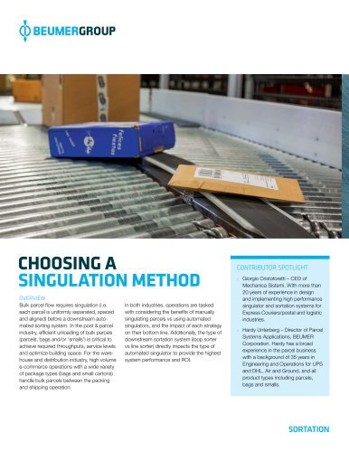 Whitepaper: Choosing a singulation method