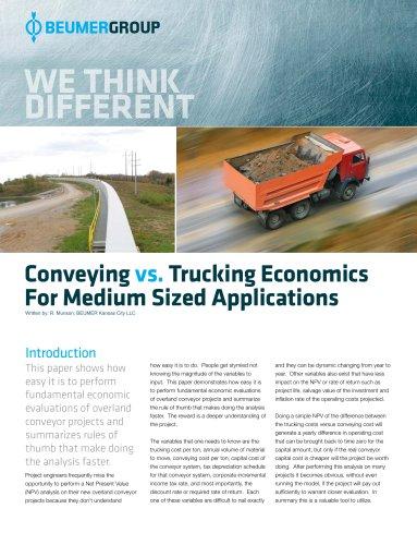 Whitepaper: Conveying vs. Trucking Economics for medium sized Applications