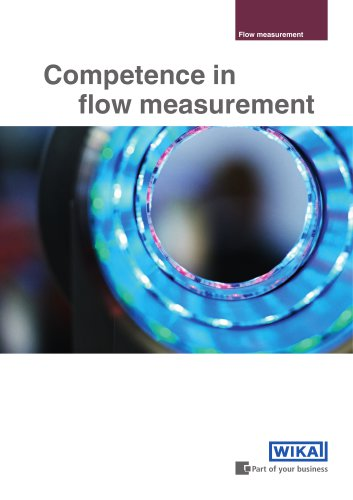 Competence in flow measurement