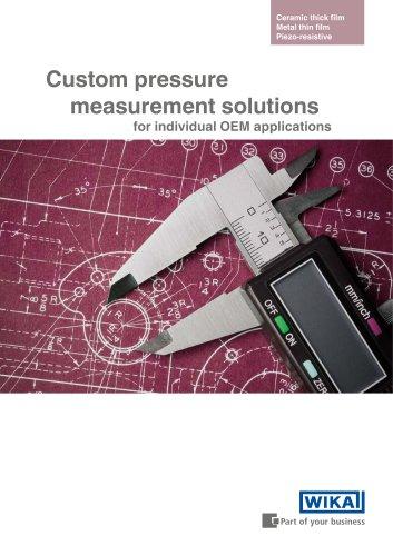 Custom pressure measurement solutions for individual OEM applications