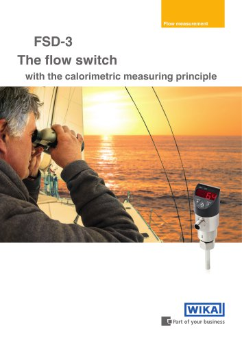 The flow switch with the calorimetric measuring principle