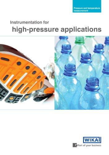 Instrumentation for high-pressure applications