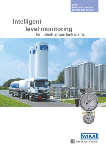 Intelligent level monitoring for industrial gas tank plants