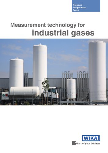 Measurement technology for industrial gases