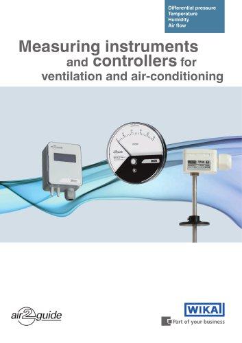 Measuring instruments for ventilation and air-conditioning