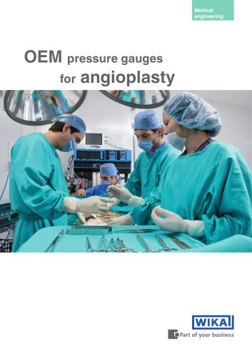 OEM pressure gauges for angioplasty