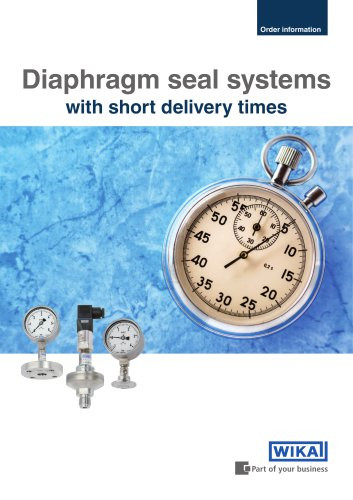 Order information - Diaphragm seal systems with short delivery times