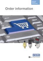 Order information: Electronic pressure measurement