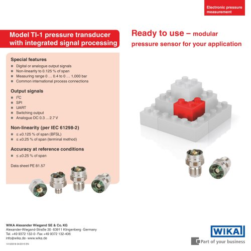 Ready to use – modular pressure sensor for your application