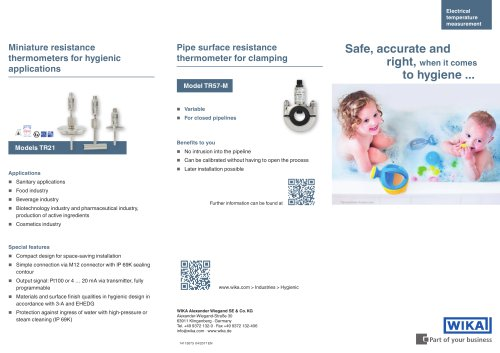 Safe, accurate and right, when it Comes to hygiene ...
