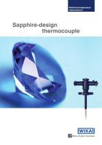 Sapphire-design thermocouple