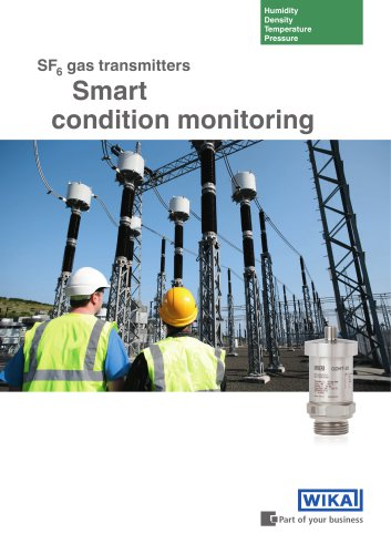 SF6 gas transmitters - smart condition monitoring