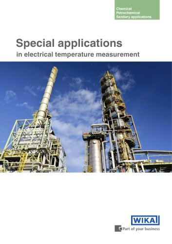 Special applications in electrical temperature measurement