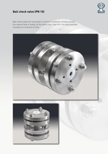 Ball check valve (PN 10)