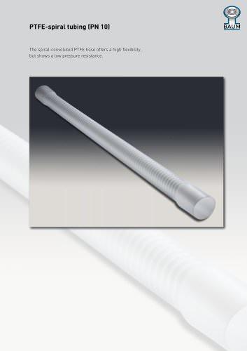 PTFE-spiral tubing (PN 10)