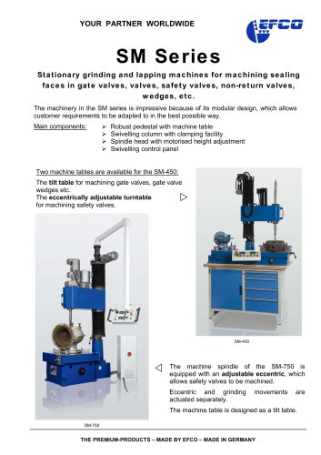 SM Series - EFCO Maschinenbau GmbH - PDF Catalogs