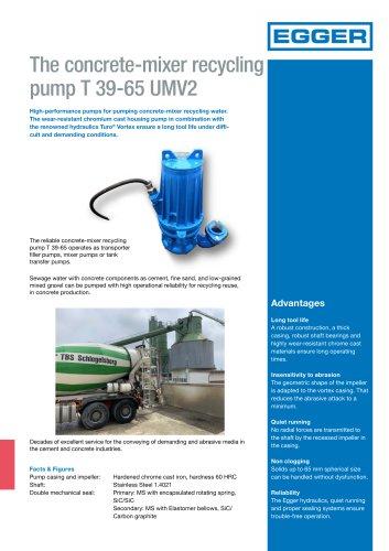 Concrete-mixer recycling pump