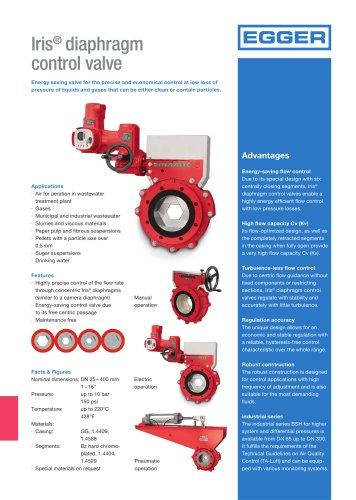 Iris® diaphragm control valve
