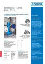 Wastewater pumps EOA / EOSA