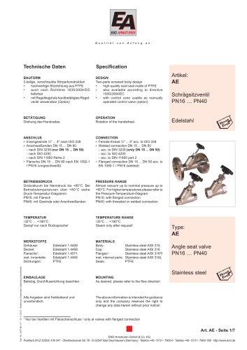 Data sheet AE