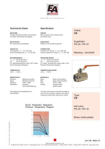 Data sheet CB