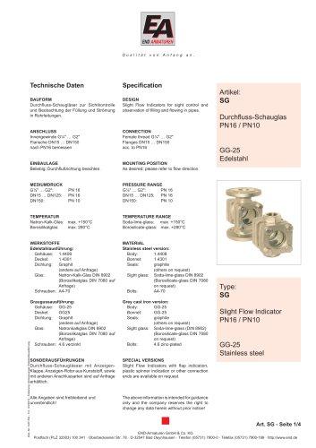 Data sheet SG