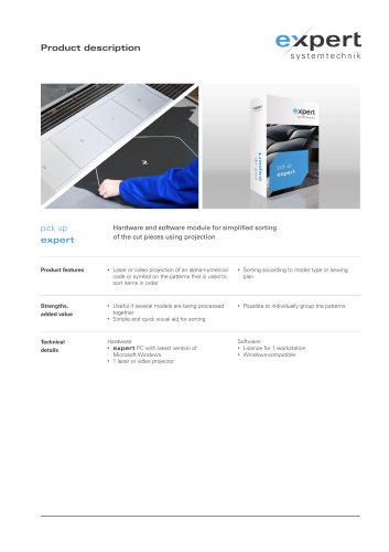 expert lean sorting - Hardware & software module for of the cut pieces using projection