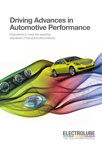 Electrolube Automotive Applications brochure
